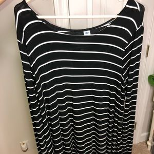 mid length striped dress (NEGOTIABLE)